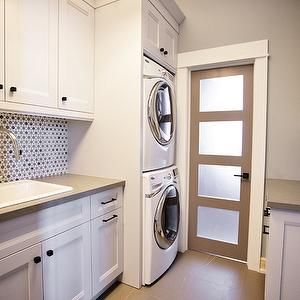 Laundry room - stack washer and dryer