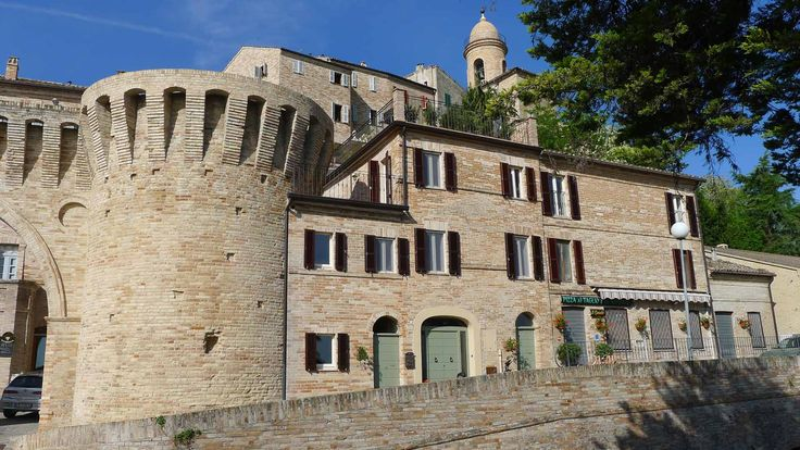The beautiful Casa Tre Archi- attached to the ancient entrance arches of Petritoli.