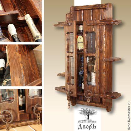 "Шкаф-бар ""Менделеевский"" - шкаф-бар для дачи,  для загородного дома, для охотничьего домика."