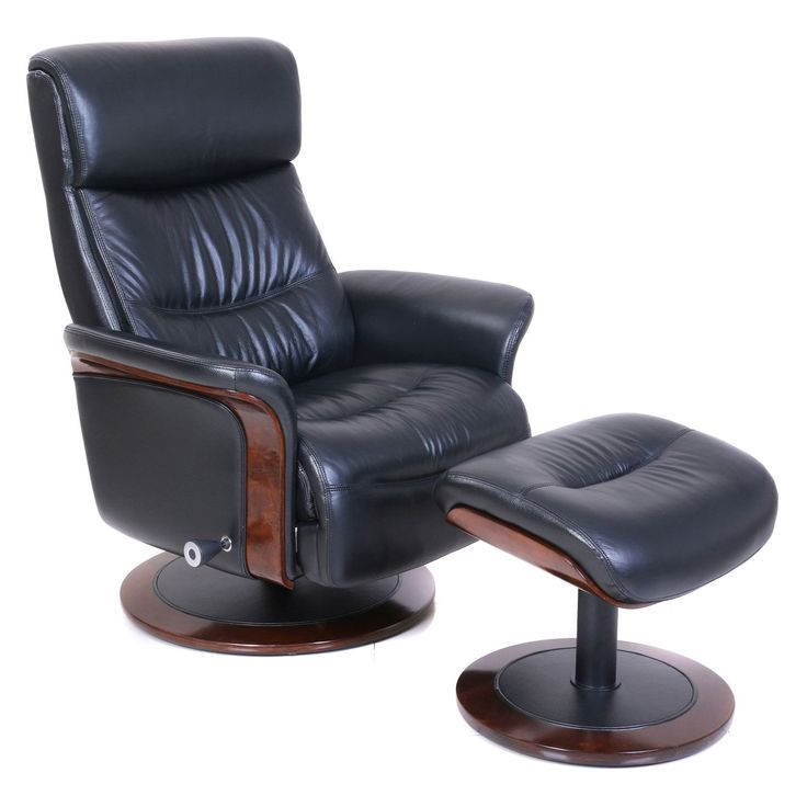 Barcalounger Pedestal Colton Recliner With Ottoman | From Hayneedle.com