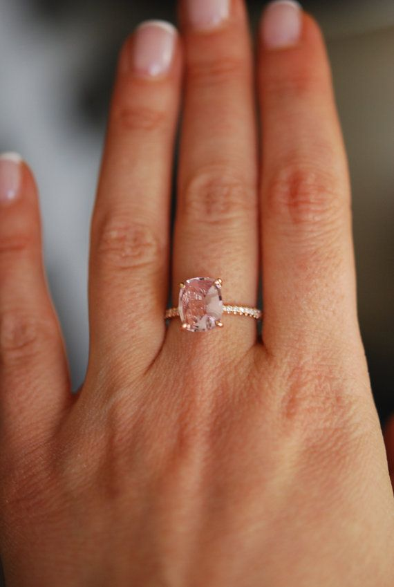 Blake Lively ring Blush Sapphire Engagement Ring by EidelPrecious