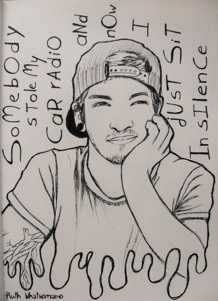 Josh Dun from 21 Pilots for @Fuctupkid182 by @ruth1697 :)