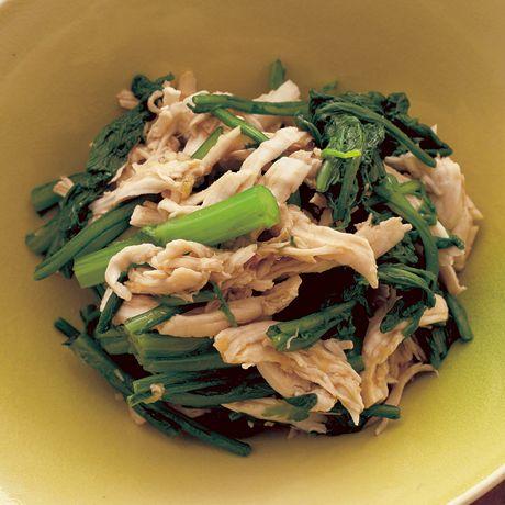 ささ身と春菊のさっぱりあえ   小林まさるさんのおつまみの料理レシピ   プロの簡単料理レシピはレタスクラブネット