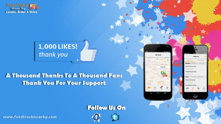 We have just reached 1000 likes! Thank you to all our fans for the support  www.foodtrucknearby.com