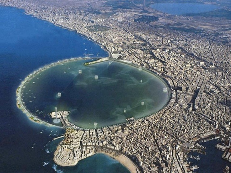 A Bird's Eye View of the harbour Location Alexandria