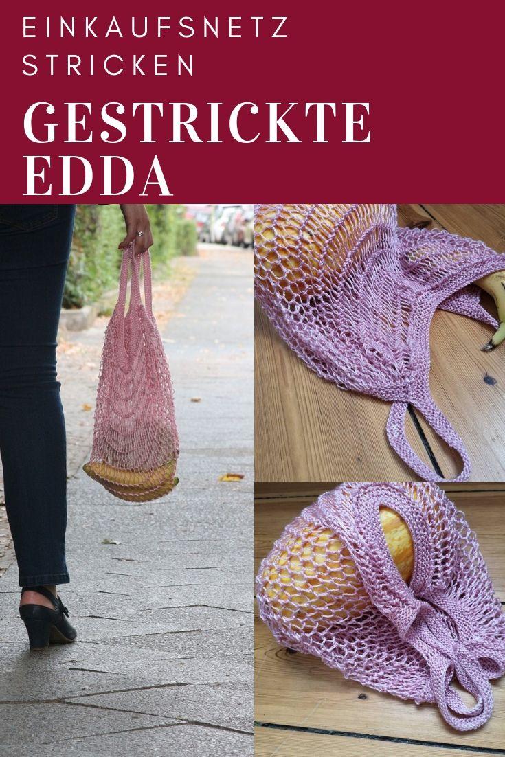 Trend Lemming Edda Ein Gestricktes Einkaufsnetz Zusammen
