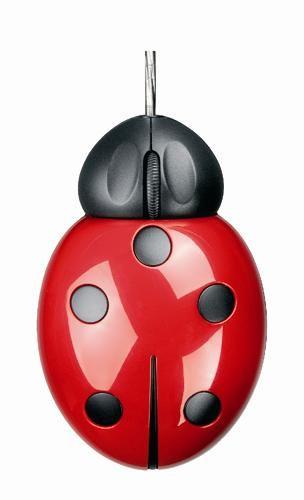 Já esse charmoso mouse Joaninha Ladybug da Pat Says não sai por menos de R$ 120,00    via: http://www.webdig.com.br/8847/computadores-teclados-mouses-diferentes/