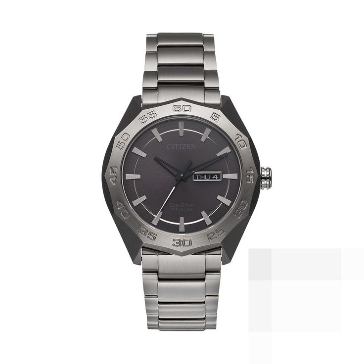 Citizen Eco-Drive Men's Super Titanium Watch, Grey