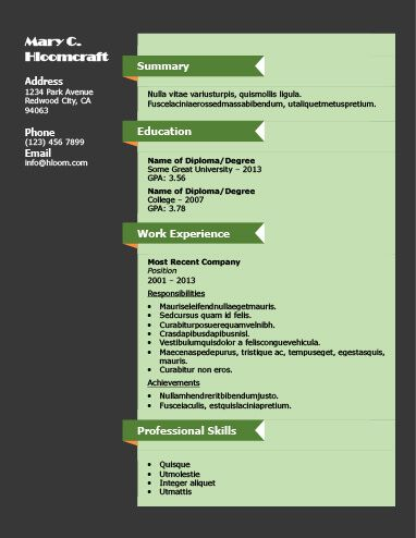 Best 25+ Chronological resume template ideas on Pinterest Resume - resumes for dummies