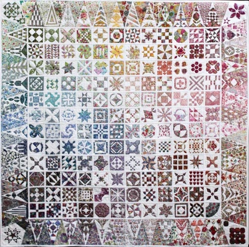 Liberty of London Dear Jane quilt - except that many non-Jane squares are subbed in for those in the original quilt.