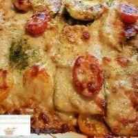Courgette lasagne met pesto saus : Recepten van Domy