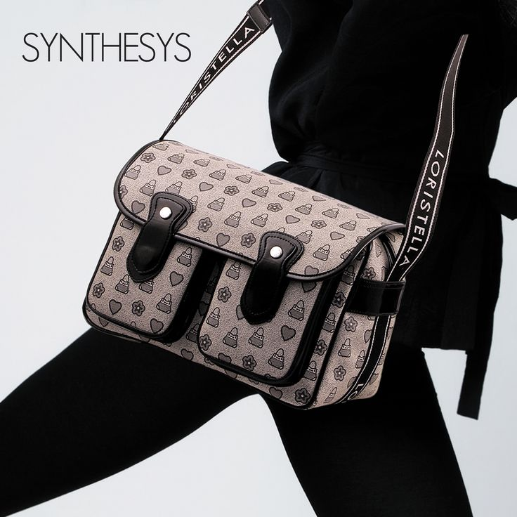 SYNTHESYS COLLECTION #loristella #synthesys #collection #bags #madewithlove #woman #grey #cacciatora #model #bag #style