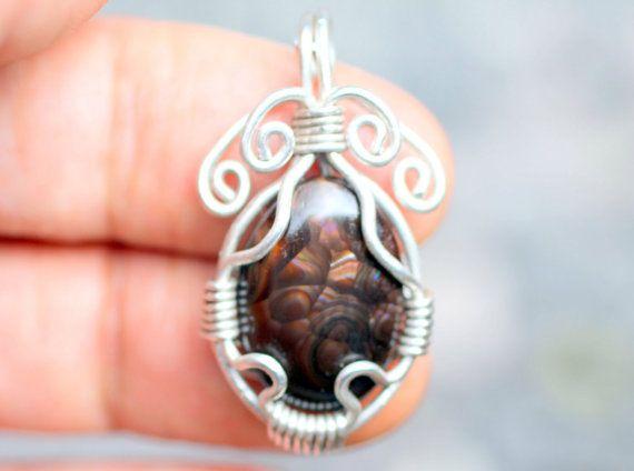mexican fuoco agata gioielli ciondolo in pietra di fireagate