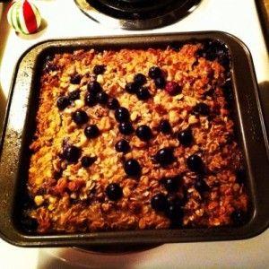 Blueberry Banana Baked Oatmeal | Breakfast: Healthier Alternatives ...