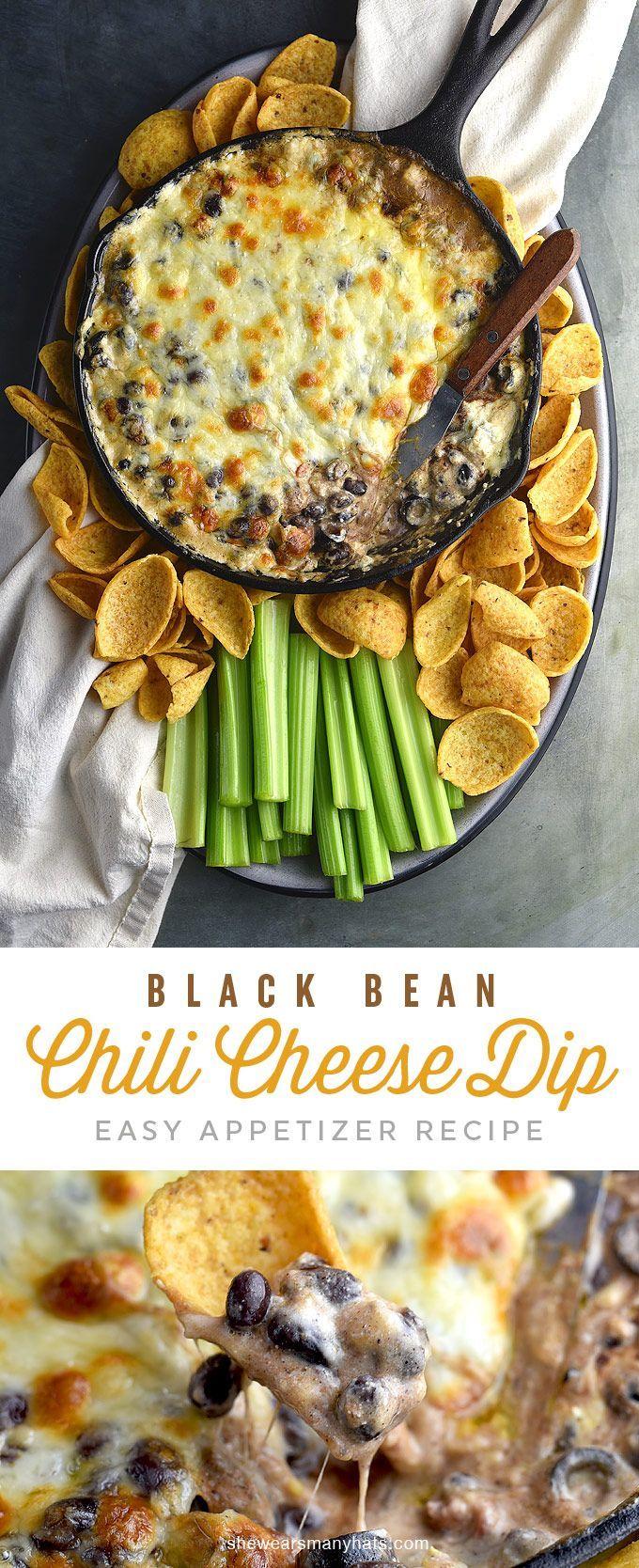 Easy Hot Chili Cheese Dip Recipe | http://shewearsmanyhats.com
