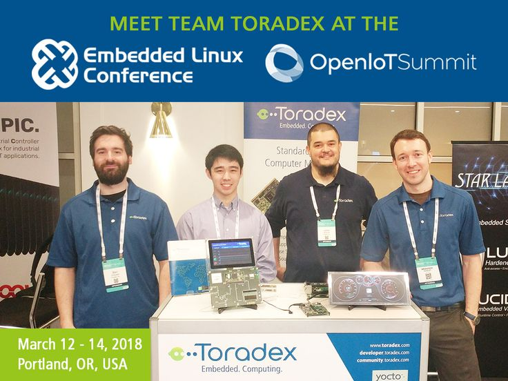 We're at the ongoing Embedded Linux Conference + OpenIoT Summit in Portland, and we've got our interesting product portfolio and engaging demos on display. Drop by, we're certain it'll be worth your while! #lfelc #openiot