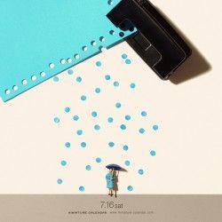Rain punch. Fotografías sorprendentes de miniaturas.