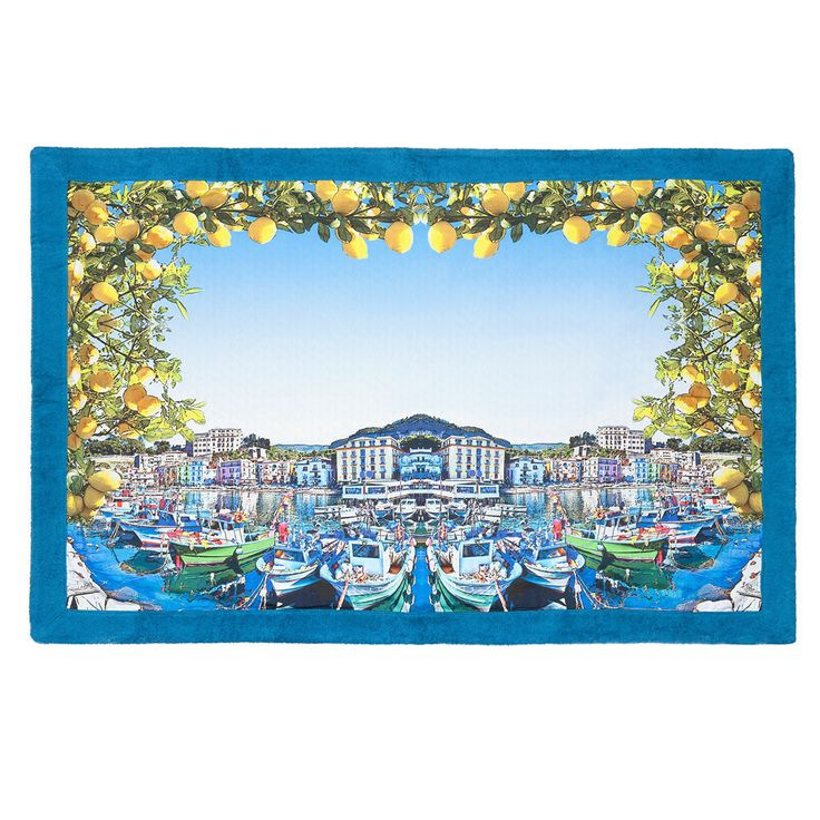 """Limoncello"" towel will give you the ticket to great mediteranian holiday style!"