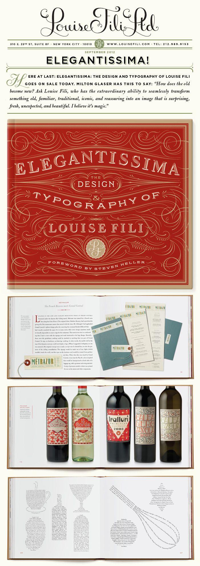 24 best livros que valem a pena ler images on pinterest livros type tuesday elegantissima by louise fili fandeluxe Images