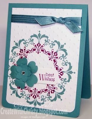 Stampin' Up! Daydream Medallions Card - Create With Christy - Christy Fulk, Stampin' Up! Demo