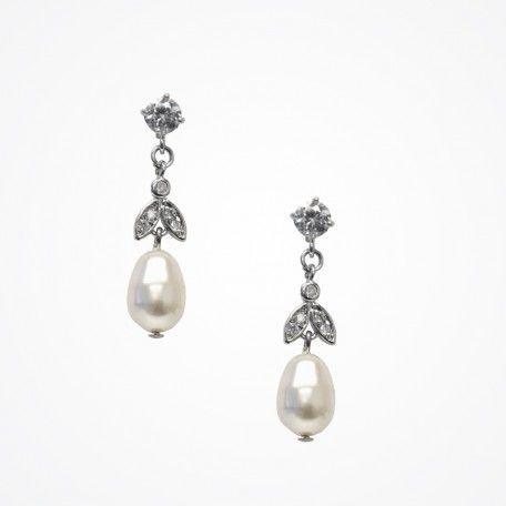 Silk pearl earrings by Stephanie Browne