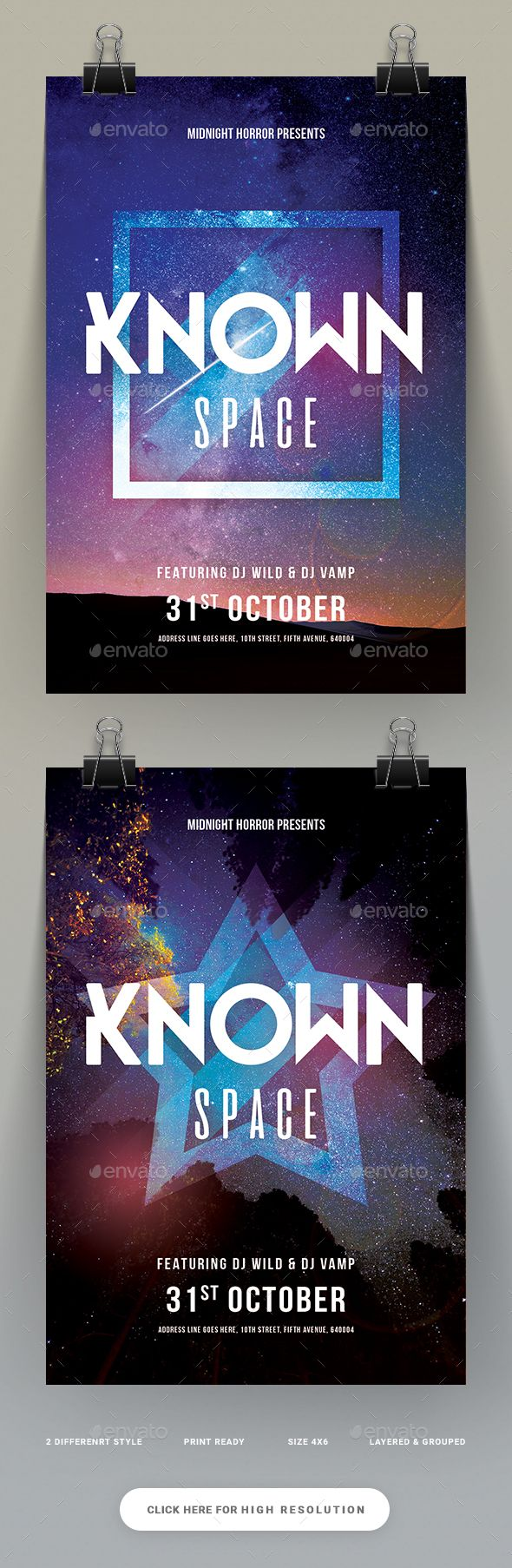 Known Space Party Flyer  — PSD Template #amable #dark • Download ➝…