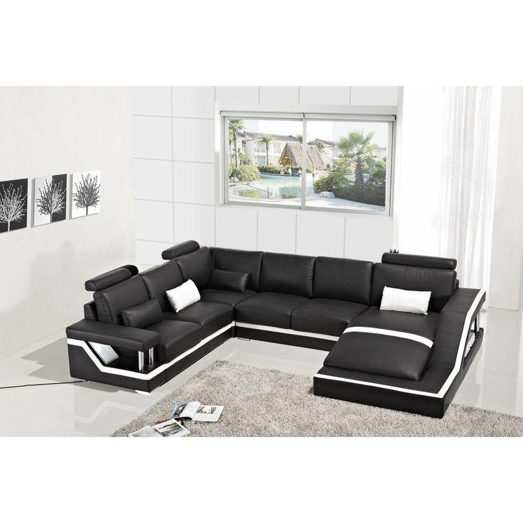 Divani Casa Leven Modern Yellow Leather Sectional Sofa: Best 25+ Modern Leather Sofa Ideas On Pinterest