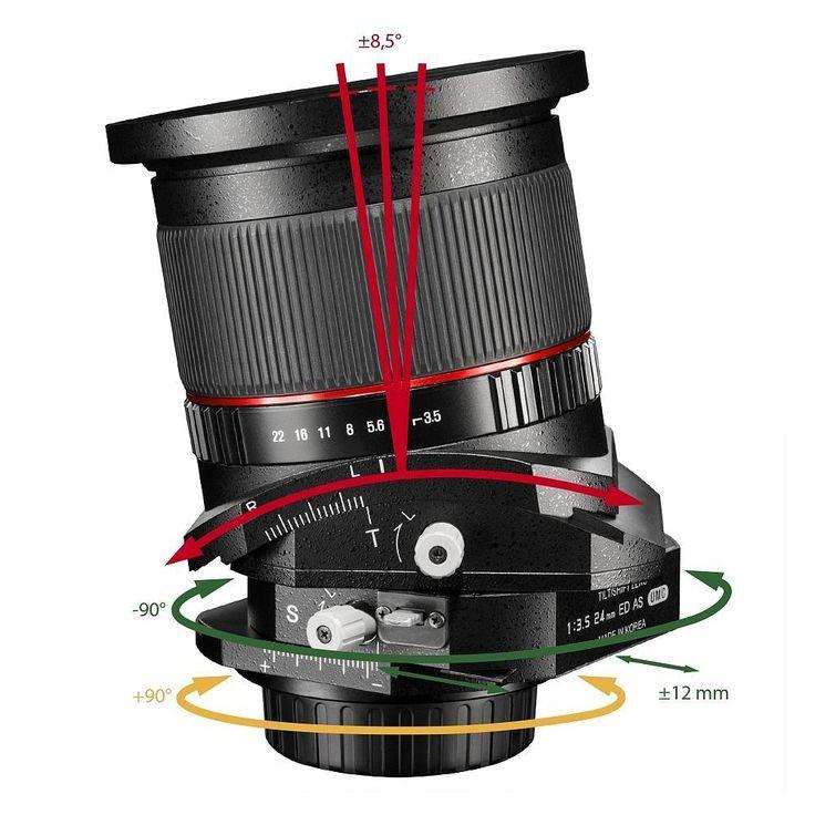 walimex pro 24/3,5 Tilt-Shift Objektiv f Canon EF, 18895