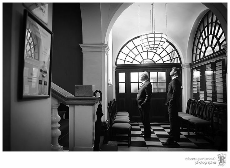 dramatic doors for waiting groom shot, if lobby empty when there