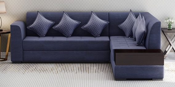 Buy Alvin Lhs Sectional Sofa In Blue Colour By Muebles Casa Online Modern Corner Sofas Sectional Sofas Furniture Pepperfry Product Sectional Sofa Sectional Corner Sofa