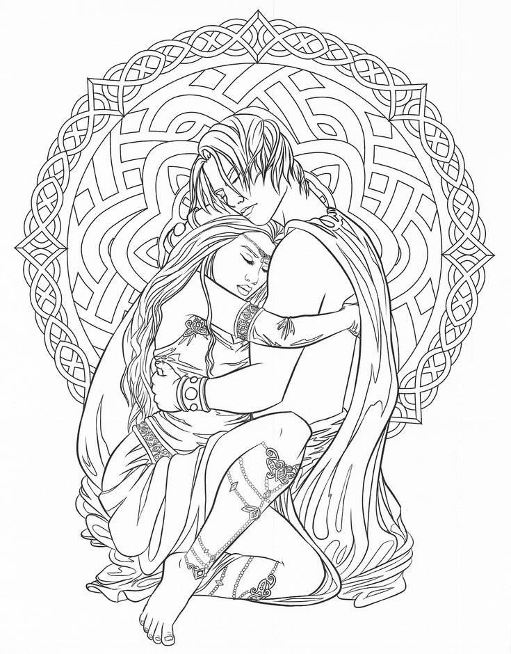 dark fantasy fairies coloring pages | 644 best images about Coloring pages to print - Fantasy on ...