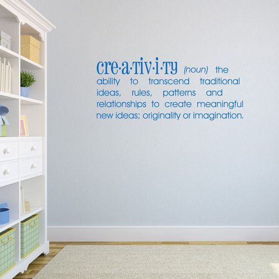 Creativity dictionary definition wall sticker dictionary wall decal quote wall art word wall transfers inspirational wall decals de004
