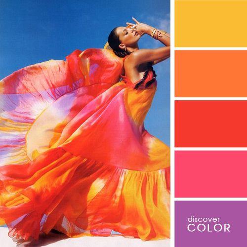Яркое платье | DiscoverColor.ru