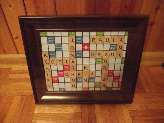 Personalized Scrabble Board Game Wall Art Scrabble Tiles