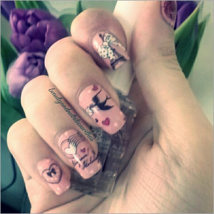 Nails Of The Week!!!Nail Stickers!!!Spring Nails 2016!!!