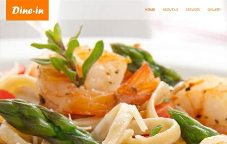 free restaurant html5 web template