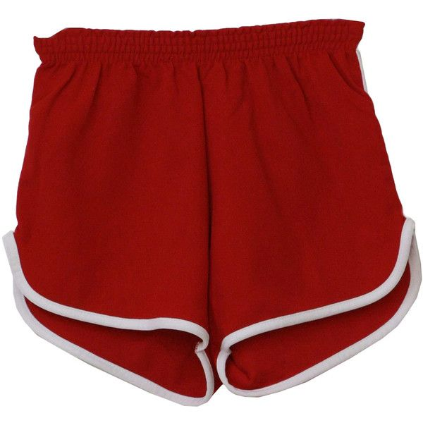 1980s Vintage Shorts: 80s -National Gym Wear- Mens red and white nylon... ($20) ❤ liked on Polyvore featuring men's fashion, men's clothing, shorts, bottoms, 80s mens clothing, 1980s mens clothing, mens beach wedding apparel, short mens clothing and vintage mens clothing