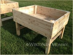 Raised garden beds for our home.