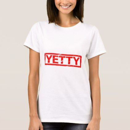 Yetty Stamp T-Shirt  $19.95  by StampedNames  - cyo diy customize personalize unique