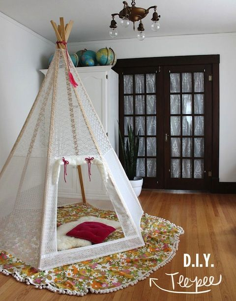 Make a DIY tent or teepee - what a great space for reading and relaxing!