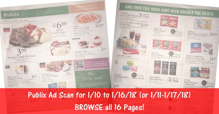 READY to BROWSE the actual upcoming (1/10 or 1/11) Publix Weekly Ad Scan? Here is the Publix Weekly Ad Scan for 1/10/18 - 1/16/18 (1/11-1/17/18 for Some)! BROWSE all 16 Pages HERE ►  http://www.thecouponingcouple.com/publix-weekly-ad-scan-1-10-18/  #earlyads #PublixAd #PublixAdPreview #PublixDeals  Visit us at http://www.thecouponingcouple.com for more great posts!