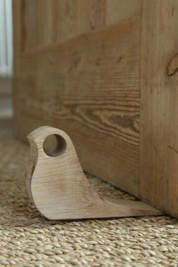 DIY Woodworking Ideas Birdie doorstop, simple beginning woodworking project