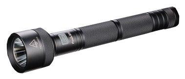 Linterna Fenix E50, con 780 lumenes. Ilumina a 260 metros de distancia. Dura 80 horas con 4 pilas CR123A ó 2 baterías recargables 18650.