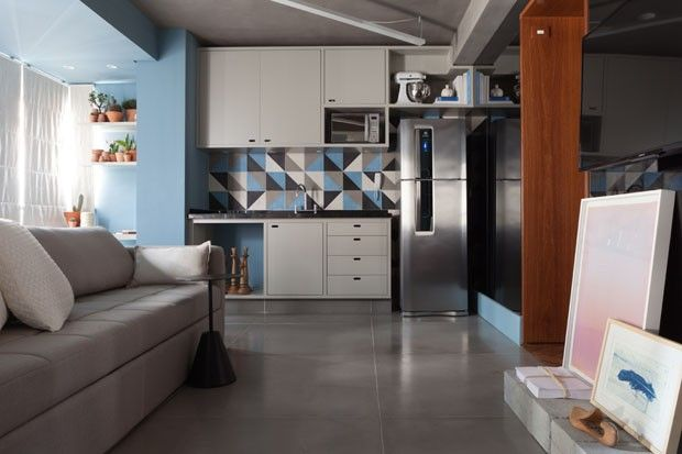 Cada canto deste apartamento de 34 m² na Rua Bela Cintra, na capital paulista, foi aproveitado da melhor forma pelo arquiteto Renato Mendonça.