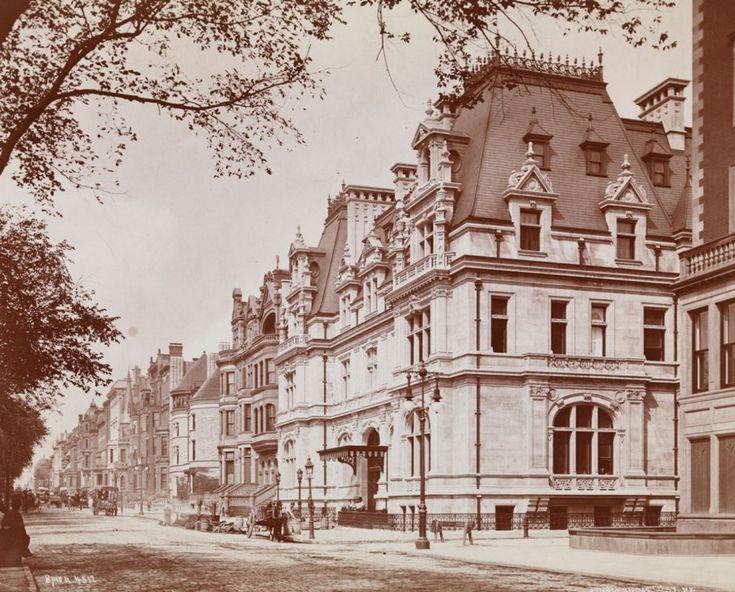 Mrs. William Backhouse Astor Jr. and John Jacob Astor IV house, 1895, designed by Richard Morris Hunt, at Fifth Avenue and 65th Street. Ulti...