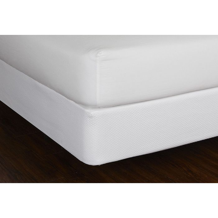 Box Spring Hypoallergenic Mattress Protector by LC Modern Classics. This soft mattress covering features a 100% cotton matlesse for added comfort.