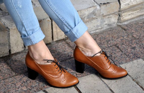 Kent Oxford Pumps Womens Oxfords Heeled Oxfords by JuliaBoShoes