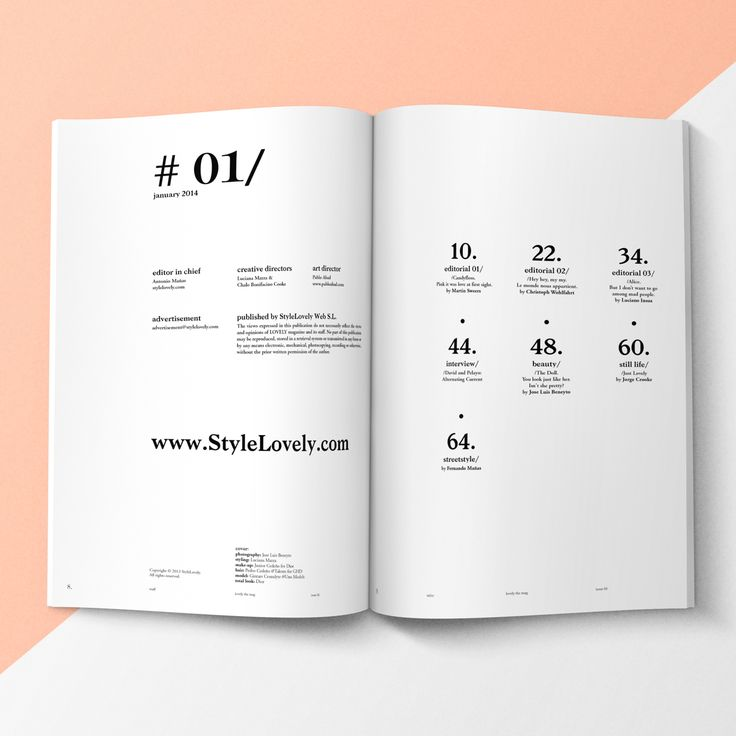 LOVELY THE MAG ISSUE#1 on Behance