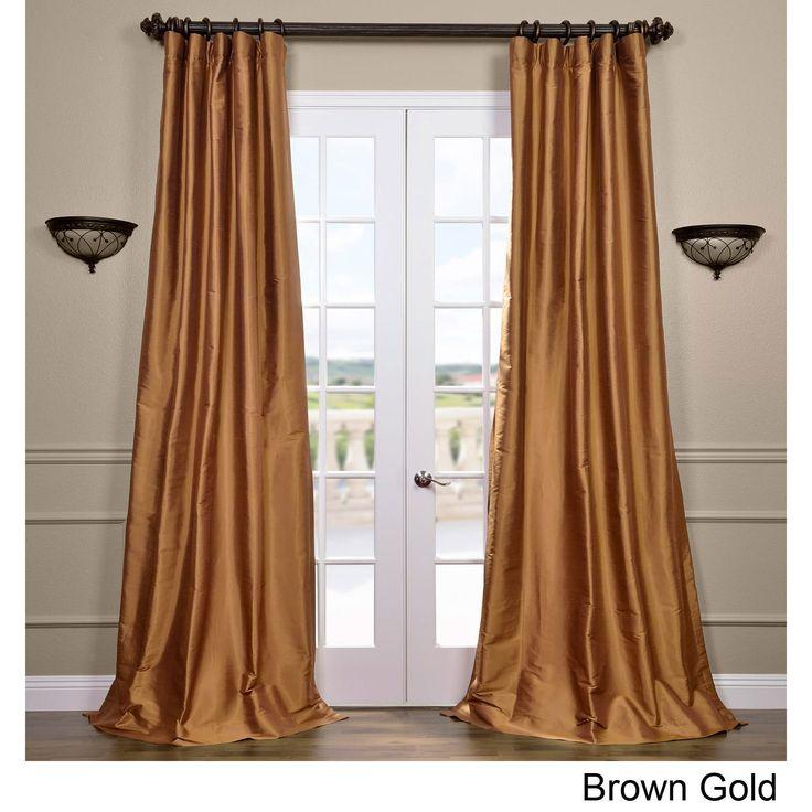 Exclusive Fabrics Signature Thai Silk 108-inch Curtain Panel (Spiced Plum - 108L), Purple, Size 108 inches