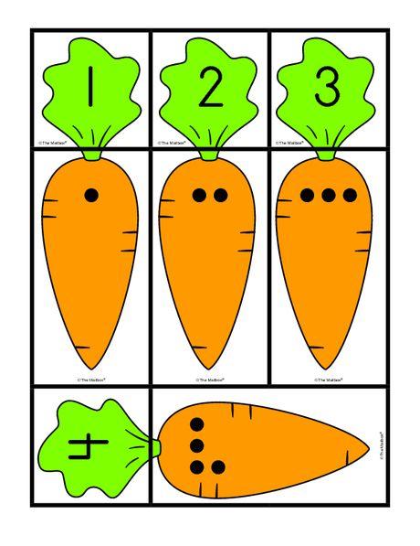 numbers 1-12 carrrots